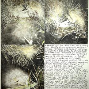 Bakteppe av Sissel Fredriksen og Paper Drawing #26 av Marit Roland