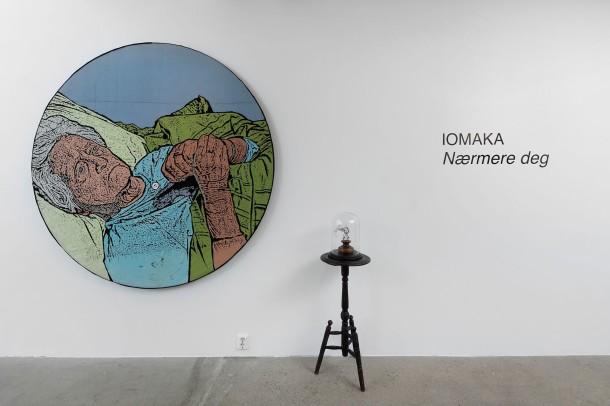Fra IOMAKAS utstilling «Nærmere deg», Oppland Kunstsenter,  2020. Foto: Øystein Thorvaldsen.