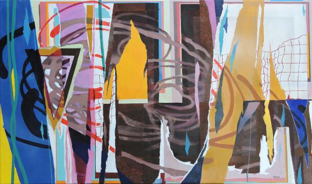 Arnyas koppany 2020 Jól betépve 120x90 akrylic canvasc