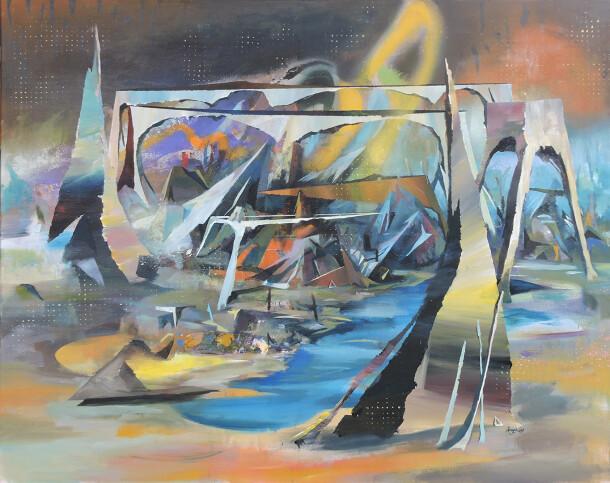 Arnyas koppany 2020 spring melt 100X120 akrylic canvas copy